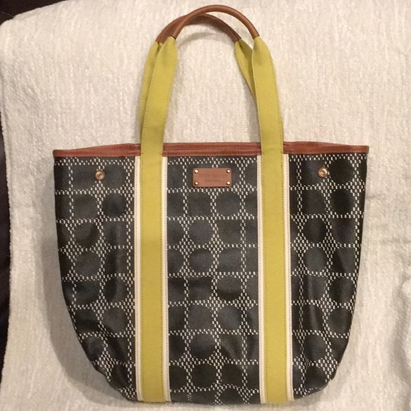 NWOT Kate Spade NY Canvas and Leather Tote Bag